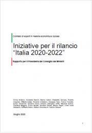 """Rapporto Iniziative per il rilancio """"Italia 2020-2022"""""""