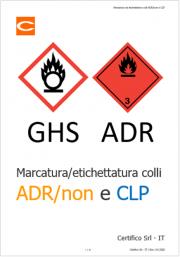 Marcatura ed etichettatura colli ADR/non ADR e CLP