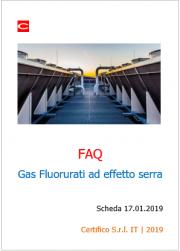 FAQ Gas Fluorurati ad effetto serra