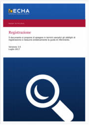 ECHA Guida in pillole - Registrazione
