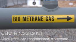 UNI CEN/TR 17238:2018 | Valori limite per i contaminanti biometano