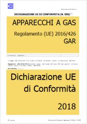 Dichiarazione UE di Conformita' | Regolamento GAR