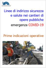 Linee di indirizzo sicurezza e salute cantieri opere pubbliche COVID-19