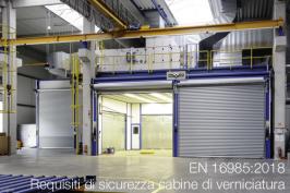 EN 16985:2018   Requisiti di sicurezza cabine di verniciatura