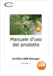 Manuale d'Uso di Certifico ADR Manager