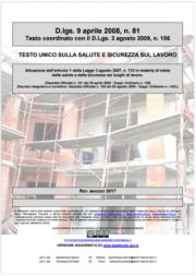 Testo Unico Sicurezza D. Lgs 81/2008 - 05.2017