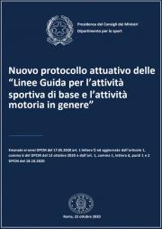 Protocollo attuativo Linee Guida l'attività sportiva di base e attività motoria in genere