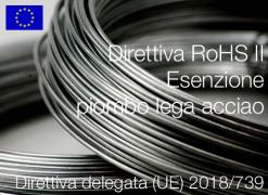 Direttiva delegata (UE) 2018/739 | Modifica All. III Direttiva RoHS II