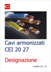 Cavi armonizzati CEI 20 27: Designazione
