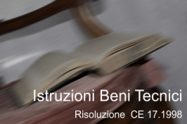 Risoluzione Consiglio del 17.12.1998 Istruzioni beni consumo tecnici