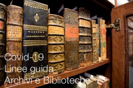 Covid-19   Linee guida per Archivi e Biblioteche