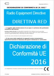 Dichiarazione di Conformità UE Direttiva 2016/53/UE RED