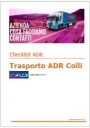 Trasporto ADR Colli: Check list ADR 2015