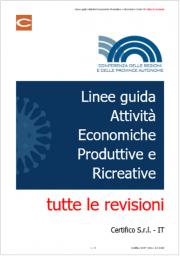 Linee guida Attività Economiche Produttive e Ricreative Covid-19: tutte le revisioni
