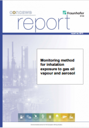 Monitoring exposure to gas oil vapour