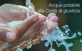 Acqua potabile: Italia deferita alla Corte di giustizia