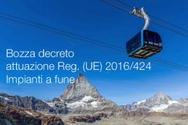 Bozza decreto attuazione Regolamento (UE) 2016/424 Impianti a fune