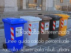 Linee guida calcolo percentuale raccolta differenziata rifiuti urbani: Decreto 26 maggio 2016