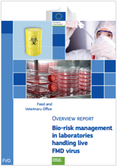 Bio-risk management in laboratories handling live FMD virus