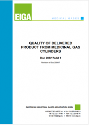 Quality of delivered product from medicinal gas cylinders add.1