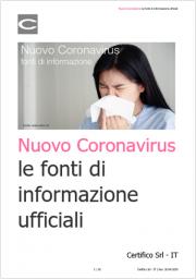 Nuovo Coronavirus: fonti di informazione