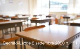 Decreto-Legge 8 settembre 2020 n. 111
