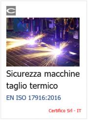 EN ISO 17916:2016 Sicurezza macchine taglio termico