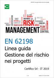 EN 62198 | Linea guida Gestione del rischio nei progetti