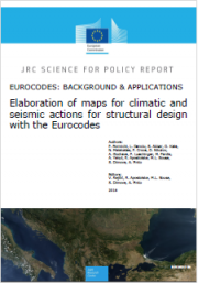 Elaboration maps for climatic and seismic actions structure design Eurocodes
