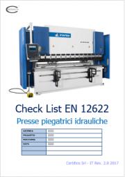 Presse piegatrici idrauliche: Check list sulla norma EN 12622
