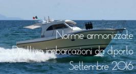 Norme armonizzate Direttiva Imbarcazioni diporto Settembre 2016