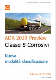 ADR 2019 Preview: nuova classificazione sostanze corrosive