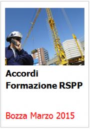 Accordi Formazione RSPP: Marzo 2015