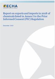 Relazione Annuale 2018 esportazioni importazioni Regolamento PIC