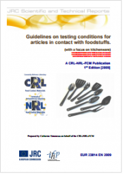 Guidelines on testing conditions for articles in contact with foodstuffs
