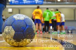 Decreto PCM Dipart. dello Sport 13 ottobre 2020