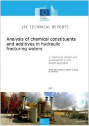 Analysis of chemical constituents and additives in hydraulic fracturing waters