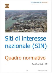 Siti di interesse nazionale (SIN): Quadro normativo