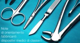 Note di orientamento fabbricanti dispositivi medici di classe I