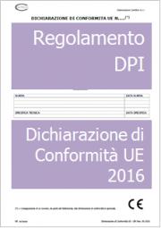 Dichiarazione di Conformita' UE DPI: Regolamento (UE) 2016/425
