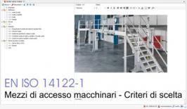 EN 14122-1 Mezzi di accesso permanenti al macchinario - Tabella di scelta