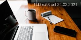 Decreto Direttoriale n.58 del 24.02.2021