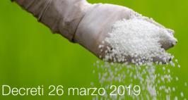 Decreto 26 marzo 2019