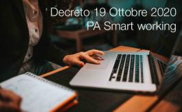 Decreto 19 Ottobre 2020   PA Smart working