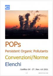POPs Persistent Organic Pollutants: Convenzioni/Norme/Elenchi