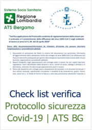 Check list verifica Protocollo sicurezza Covid-19 | ATS BG