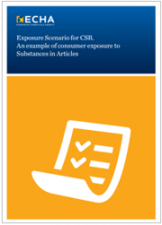 Exposure Scenario for CSR: An example of consumer exposure to Substances in Articles