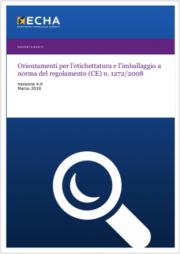 Guida etichettatura e imballaggio regolamento  CLP - 03.2019 ITA