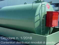 Circolare n. 1/2018 | Contenitori distributori rimovibili di gasolio - Indicazioni applicative