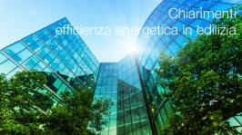Chiarimenti in materia di efficienza energetica in edilizia